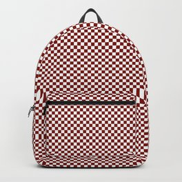 Vintage New England Shaker Barn Red and White Milk Paint Small Square Checker Pattern Backpack