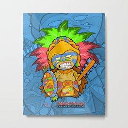 Azteca Moderno - Eagle Warrior Munny Metal Print