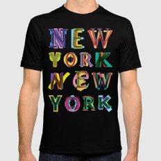 New York New York Mens Fitted Tee MEDIUM Black