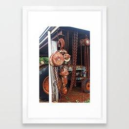 Tackle & Chains Framed Art Print