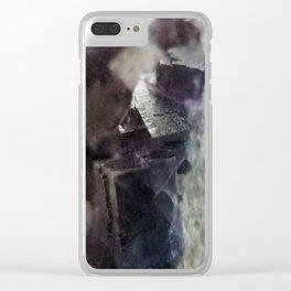 fluorite aura Clear iPhone Case
