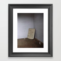 no one lives here anymore Framed Art Print