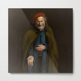 "Édouard Manet ""Beggar with a Duffle Coat (Philosopher)"" Metal Print"