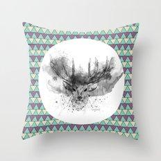 Deer V2 Throw Pillow