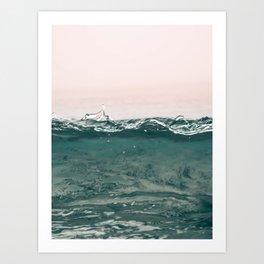 pinkwave Art Print