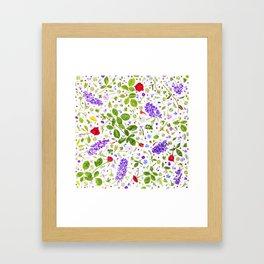 Leaves and flowers (14) Framed Art Print