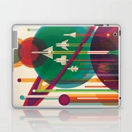 Retro Space Poster - The Grand Tour Laptop & iPad Skin