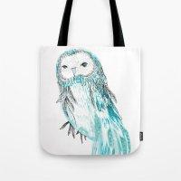 Blue Owl Tote Bag