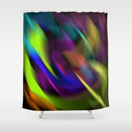 lost in colours Shower Curtain