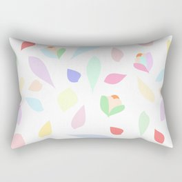 Colorful pastel leaves Rectangular Pillow