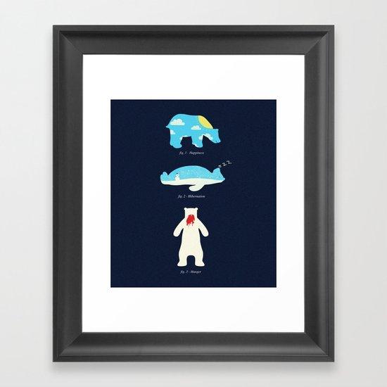 The 3 H's of Bear Life Framed Art Print