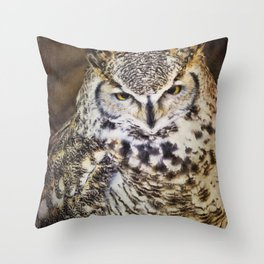 Whoooo Are You? Throw Pillow