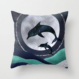 Night Swimming Throw Pillow