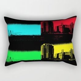 Miami Popart Panorama Rectangular Pillow