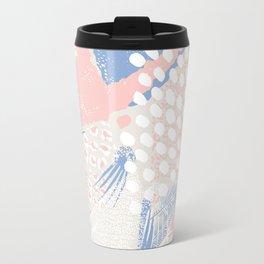 wild cats winter print (rose quartz and serenity) Travel Mug