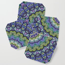 Purple n' Green Machine - Mandala Art Coaster