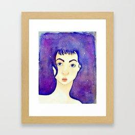 stars in her eyes Framed Art Print