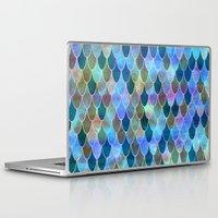 mermaid Laptop & iPad Skins featuring Mermaid by Schatzi Brown