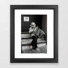 Music on the steps Framed Art Print