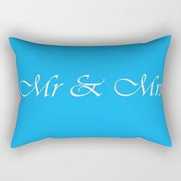 Mr & Mrs Monogram Rectangular Pillow