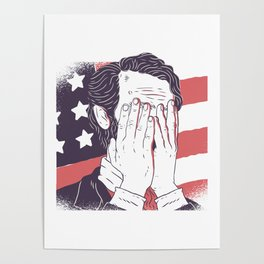 Abraham lincoln facepalm Poster
