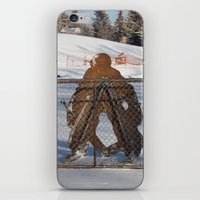 outdoor iPhone & iPod Skins featuring Outdoor hockey rink by RMK Photography