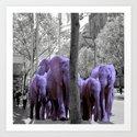 Purple guests by binovska