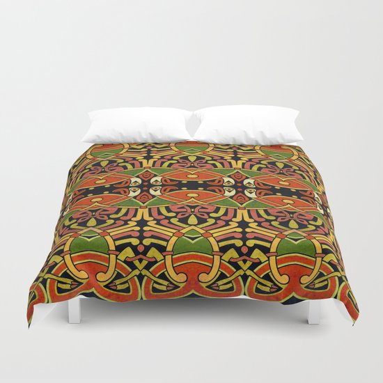 Celtic Animal Symbol Duvet Cover