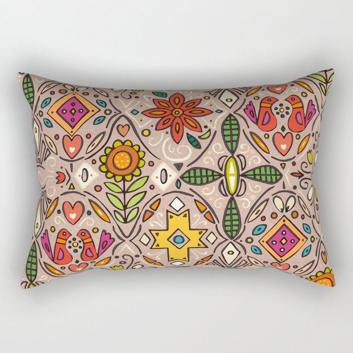 zoryana taupe Rectangular Pillow