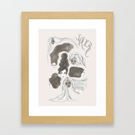 Hair 1 of 3 Framed Art Print