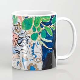 Lion, Cheetah and Tiger Still Life - Wildflowers in Wild Cat Vase After Matisse Coffee Mug