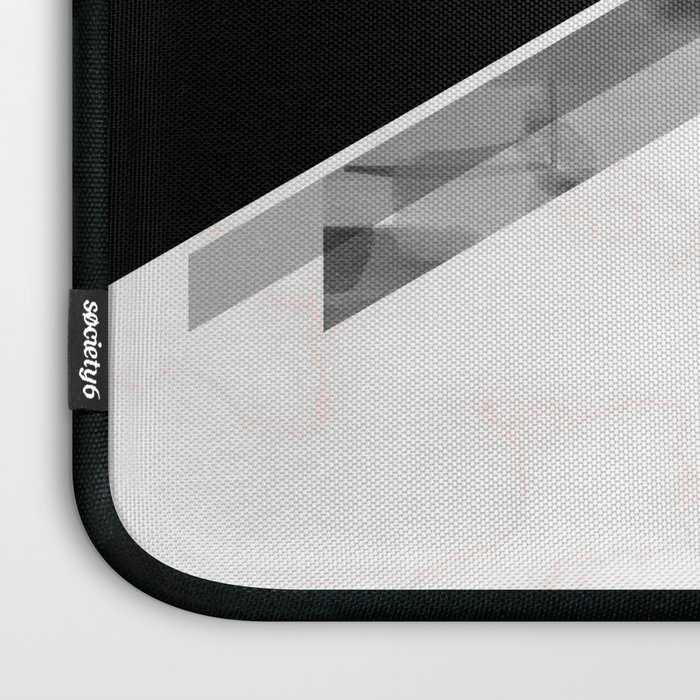 Three Triangles Geometric in B&W Laptop Sleeve