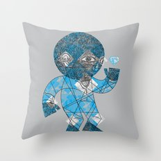 mesmerized by the light blue diamond Throw Pillow