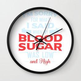 Diabetic Blood Sugar Type 1 2 Patent Gift Wall Clock