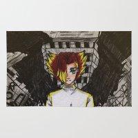 gundam Area & Throw Rugs featuring Angel by John D'Amelio