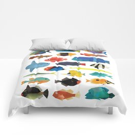 Tropical Fish chart Comforters