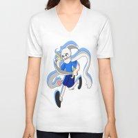 finn V-neck T-shirts featuring Finn by dartty
