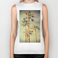 palms Biker Tanks featuring palms by Sylvia Cook Photography