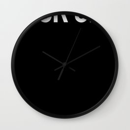 Back Off Social Distancing Helper Wall Clock