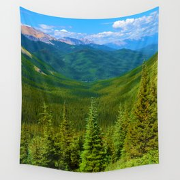 Views Along the Sulphur Skyline Trail in Jasper National Park, Canada Wall Tapestry