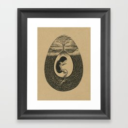 Natural Birth Framed Art Print