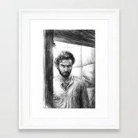 luke hemmings Framed Art Prints featuring Luke by laya rose