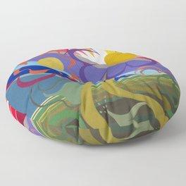 Flower Horizon Floor Pillow