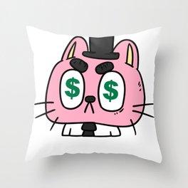 Money Monets Gift Charcoal Taler Dough Penunze Throw Pillow