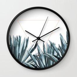 Agave Triangle Wall Clock