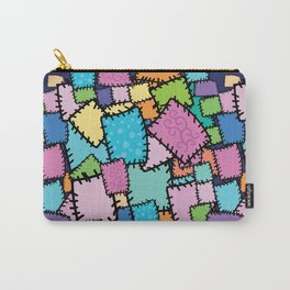Patch work Quilt Texture Carry-All Pouch