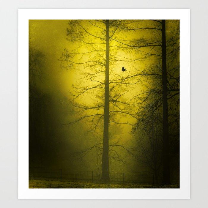 Yellow Mist Art Print
