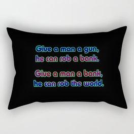 """Funny """"Robber Bankers"""" Joke Rectangular Pillow"""