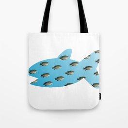 Fishy Outline Tote Bag