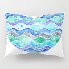 A Sea of Love (white) Pillow Sham